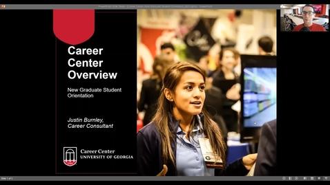 Thumbnail for entry UGA Career Center_UGA Graduate School New Student Orientation_Fall 2021