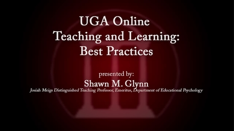 Thumbnail for entry UGA Faculty on Teaching - Shawn Glynn