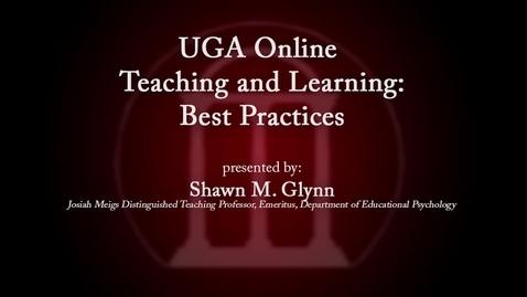 Thumbnail for entry UGA Faculty on Teaching - Shawn Glynn