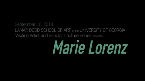 Thumbnail for entry VAS Lecture: Marie Lorenz