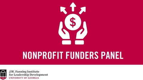 Thumbnail for entry Nonprofit Funders Panel