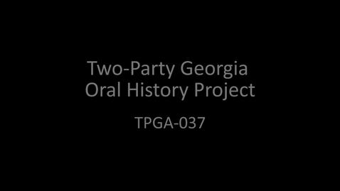 Thumbnail for entry Mark Burkhalter, Two-Party Georgia Oral History Project