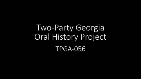 Thumbnail for entry David Worley, Two-Party Georgia Oral History Project