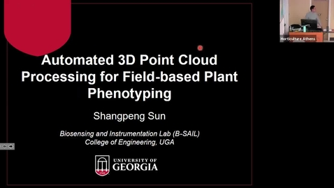 Thumbnail for entry Horticulture Seminar - Dr. Shangpeng Sun 2/5/20
