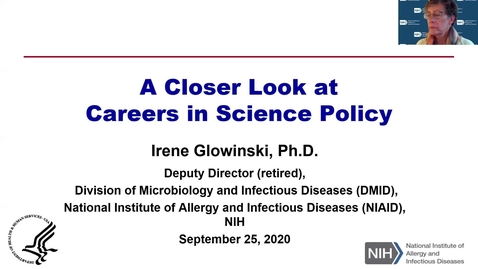 Thumbnail for entry Life Sciences Day 2020:  A Closer Look at Careers in Science Policy