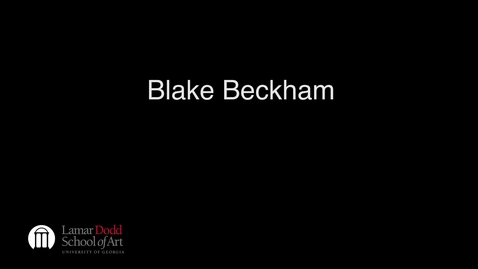 Thumbnail for entry Lecture: Blake Backham