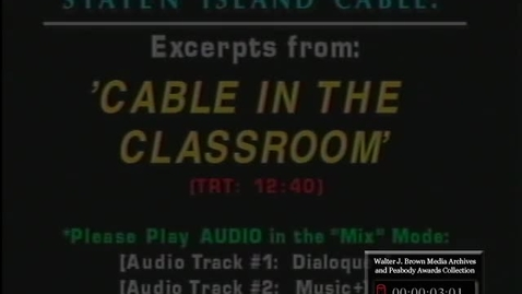 Thumbnail for entry Best of Cable in the Classroom | 93025edt