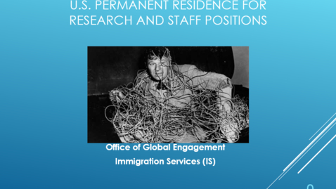 Thumbnail for entry Global Certificate: US Permanent Residency for International Staff