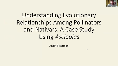 Thumbnail for entry Horticulture Seminar - Justin Peterman 4/14/21