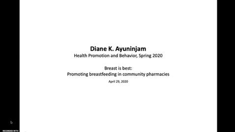 Thumbnail for entry AYUNINJAM-DIANE-HPB-BreastIsBest-AUDIORECORDING