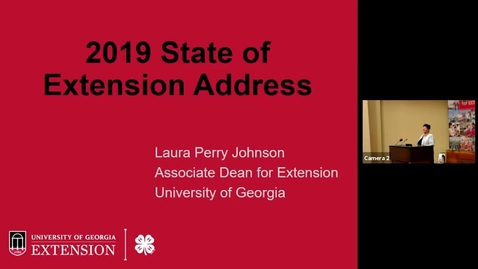 Thumbnail for entry 2019 State of Extension Address