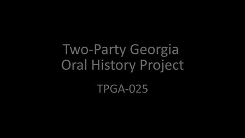 Thumbnail for entry Saxby Chambliss, Two-Party Georgia Oral History Project