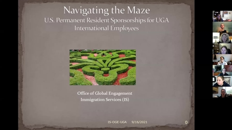 Thumbnail for entry Global Certificate: Permanent Resident Sponsorships for International Faculty and Staff