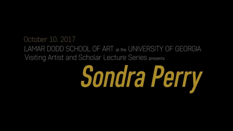 Thumbnail for entry VAS Lecture: Sondra Perry