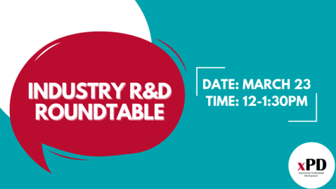 Thumbnail for entry #MyGradCareers Industry R+D Roundtable