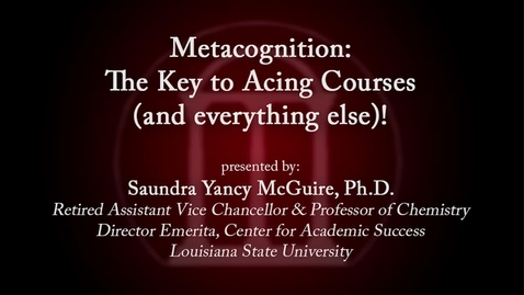 Thumbnail for entry CTL Speaker Series - Saundra McGuire