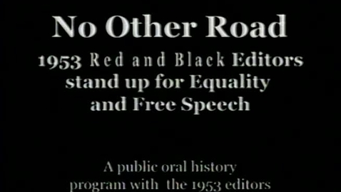 """Thumbnail for entry """"No Other Road: 1953 """", UGA Red and Black"""