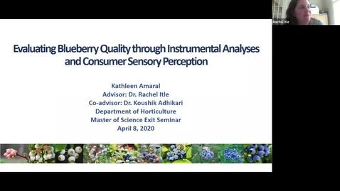 Thumbnail for entry Horticulture Seminar - Kathleen Amaral 4/8/20