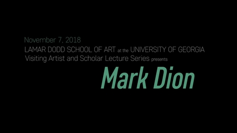 Thumbnail for entry VAS Lecture: Mark Dion