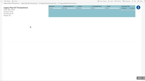 Thumbnail for entry Reporting: Legacy Payroll Transactions in Tableau