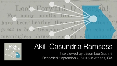 Thumbnail for entry Akili-Casundria Ramsess, Journalism and Civil Rights in Georgia and the South