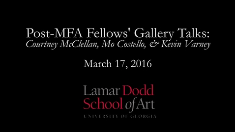 Thumbnail for entry Gallery Talk: Post MFA Fellows'