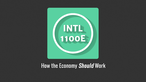 Thumbnail for entry 8 1 3 Video - How economy should work