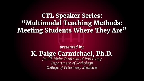 Thumbnail for entry UGA Faculty on Teaching - Paige Carmichael
