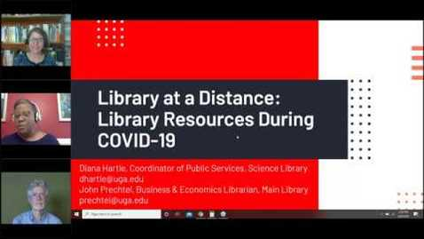 Thumbnail for entry UGA Library at a Distance Part 1 - Resources During COVID-19
