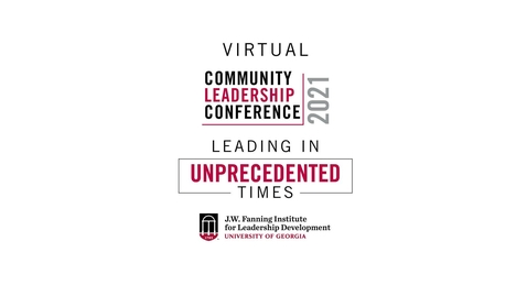 Thumbnail for entry 2021 Community Leadership Conference - Conference Welcome and Opening Plenary