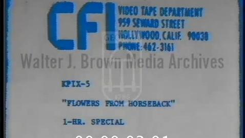 Thumbnail for entry Flowers From Horseback | 1 of 1 | 76007prt