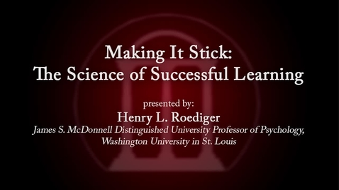 Thumbnail for entry CTL Speaker Series - Henry Roediger