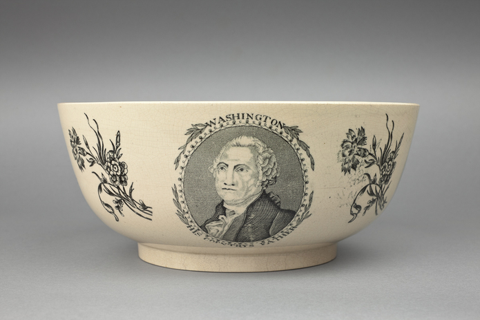 Figure 1. Ceramic bowl with the image of George Washington. Photo Credit: Shakespeare Birthplace Trust.