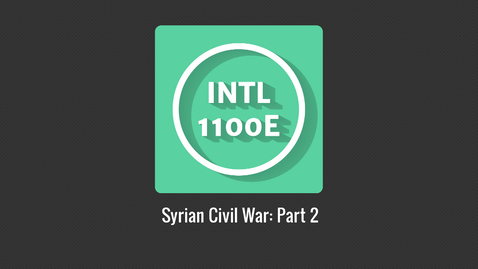 Thumbnail for entry INTL1100E_Syrian Civil War P2