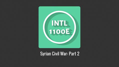 Thumbnail for entry INTL1100E_Syrian Civil War P2