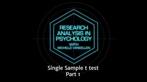 Thumbnail for entry Lightboard: T Single sample t test part 1