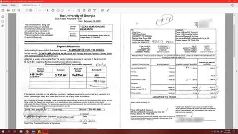 Thumbnail for entry Research: Reviewing Sub-Award Invoice and Payment Request Form
