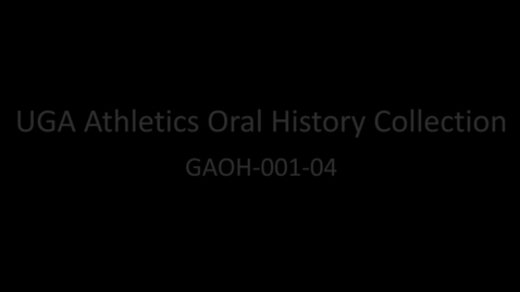 Thumbnail for entry Coach Vince Dooley, Part 4, UGA Athletics Oral History Collection