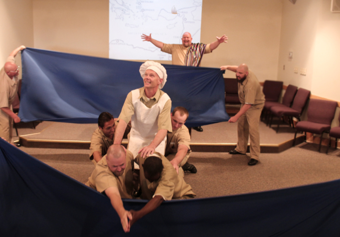 Figure 3. John Snyder as Pericles at Sea. Photo credit: Holly Stone.