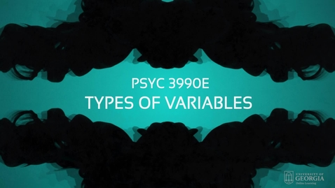 Thumbnail for entry Lecture: Types of Variables