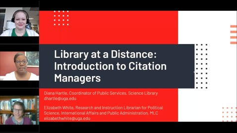 Thumbnail for entry Library at a Distance - Introduction to Citation Managers
