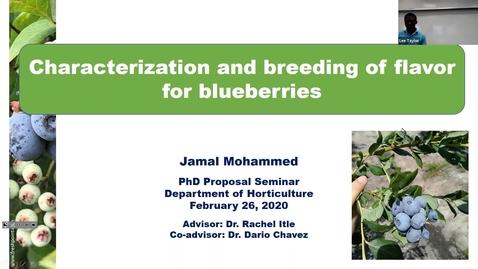 Thumbnail for entry Horticulture Seminar - Jamal Mohammed 2/26/20
