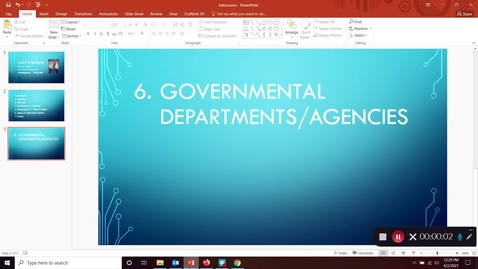 Thumbnail for entry FDNS 4600 / 6600 Food and Nutrition Policy - Library Instruction Part 6: Government Departments and Agencies