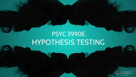 Thumbnail for entry Lecture: Hypothesis Testing