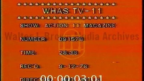 Thumbnail for entry Magazine (Television program : WHAS-TV). [1978-09-15], Ali | 1 of 1 | 78090dct