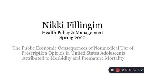 Thumbnail for entry Fillingim Nikki-HPAM-Public Economic Consequences, Opioids-Presentation