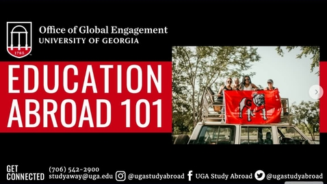 Thumbnail for entry Education Abroad 101 Session