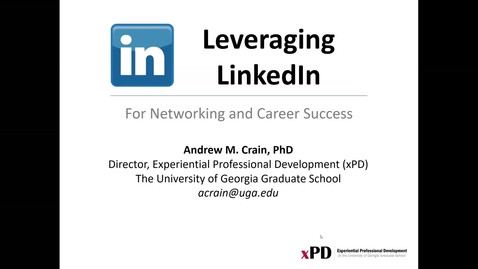 Thumbnail for entry Leveraging LinkedIn