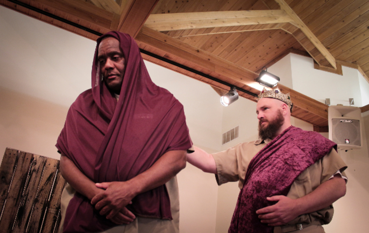 Figure 6. Michael Malavenda as King Antiochus and Charles Young as his Daughter. Photo credit: Holly Stone.