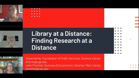 Thumbnail for entry Library at a Distance – Finding Research at a Distance